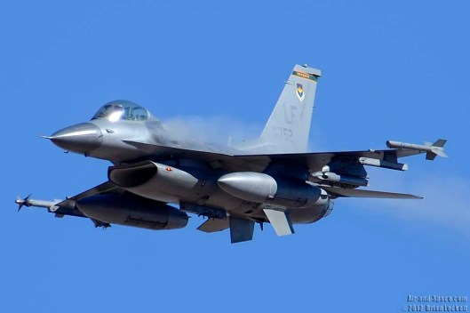 Top Hat F-16 Strafing - Photo by Brian Lockett