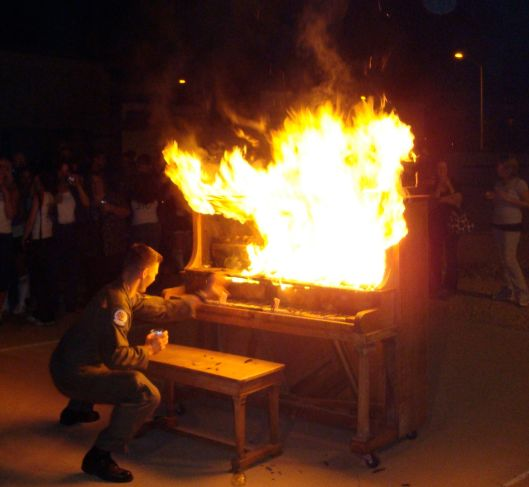 Burning Old Piano - Another Fighter Pilot tradition